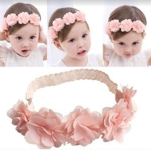 Accessories - Pretty pink floral headband baby girl
